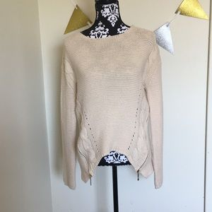 Sweaters - Sweater with zipper detailing